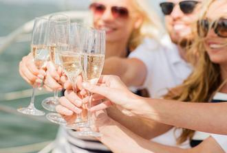 Private Lobster and Champagne Catamaran Cruise from Santorini - Daytime Tour