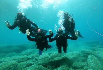 Scuba Dive in Cretan Blue